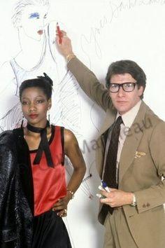Mounia et Yves Saint Laurent en 1978. Photo Guy Marineau
