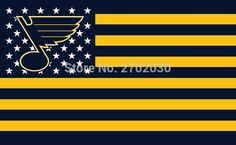 #ST. #LOUIS #BLUES #HOCKEY #SPORTS #TEAM #STAR #& #STRIPE #US #NATIONAL #FLAG #3FT #X #5FT #CUSTOM #BANNER #WITH #SLEEVE #TWO #GROMETS #90*150CM