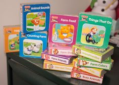 (12) Fisher Price LITTLE PEOPLE mini BOARD BOOKS set FARM animals counting +more