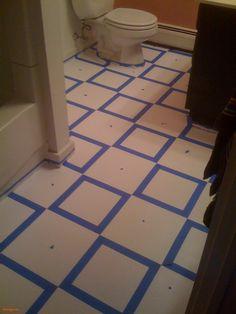 Painting Old Vinyl Floor Tiles by topcraftsdiy | Rosegarden | Pinterest