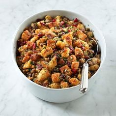 Gluten Free Sausage Apple Cranberry Stuffing #williamssonoma