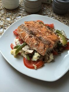 Low Carb Lachs mit Ofengemüse(Low Carb Shrimp Recipes)