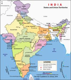Indian all state name list 2016