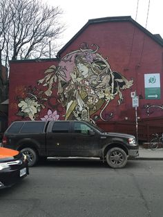 #11 3/12/2016 Kensington Market, Toronto, CA Iphone camera 6 I chose this image because the mural and how this is how some young artist are expressing themselves.