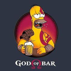 God Of Bar by Typhoonic Simpsons Drawings, Simpsons Art, Simpson Wallpaper Iphone, Cartoon Wallpaper, Homer Simpson, Character Art, Character Design, Beer Art, Futurama