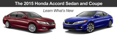 What is New for the 2015 Honda Accord Sedan and Coupe
