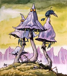 GOBLIN-EATING TOADSTOOLS The Nasties Rodney Matthews