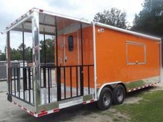 Doubletake Cycles and Trailers 8.5 X 24 White Flat Front Enclosed Car Hauler
