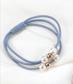 Hair Accessories · Free Shipping Women Girl Beautiful Lovely Hair Band Ties  Rope Elastic Sky Blue  fashion   f14bf809be0b
