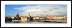 Paris Skyline, New York Skyline, Panoramic Pictures, Czech Republic, Fine Art Photography, Fine Art Prints, Prague Czech, River, Frame