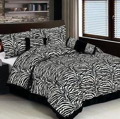 Black Zebra Print Be