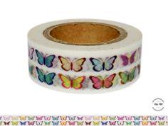 Masking Tape - Washi Tape SCHMETTERLINGE bunt - ein Designerstück von Fitzi-Floet bei DaWanda