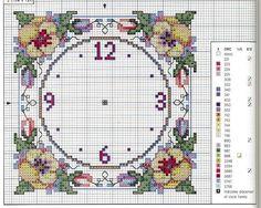 Relojes en punto de cruz (pág. 32) | Aprender manualidades es facilisimo.com