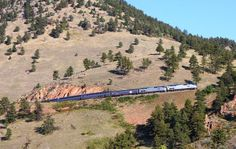 Train from Denver to Glenwood Springs, about 6 hours, but beautiful!