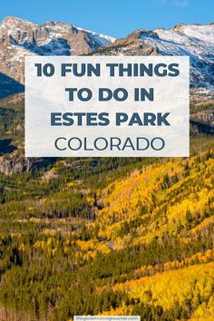 10 Fun Things to Do in Estes Park Colorado: Planning a visit to Estes Park? This guide has the best things to do in this Rocky Mountain town! #travel #colorado #ustravel