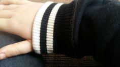 Mode mouw van mijn vest wit en zwart