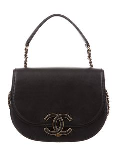 4639a727e307 Black quilted leather Chanel Small Coco Curve Flap bag with antiqued  gold-tone hardware.