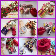 Some of my bag charms I designed and made collecting pictures #Bagcharms #design #madebyme #sunnyteddys