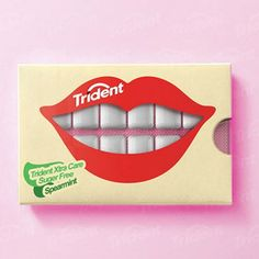 Designer: Hani Douaji Location: Preston, United Kingdom Type of work: Packaging Concept Trident Xtra Care is a chewing sugar-free gum t. Guess The Logo, Clever Packaging, Sugar Free Gum, Chewing Gum, Trident, Simple Colors, Packaging Design Inspiration, Food Design, Design Trends