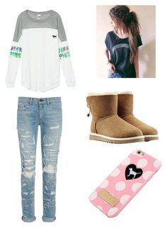Winter Snuggle by lexibrown-0903 on Polyvore featuring rag & bone, UGG Australia and Victoria's Secret
