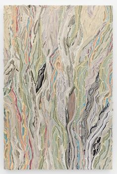 """textile arts center:  Jayson Musson, aka Hennessy Youngman, was an interesting find the other day. While known as many things (rapper, illustrator, artist) I came across his fiber """"paintings"""" made up of Coogi sweaters (a la Bill Cosby or the Notorious B.I.G)"""