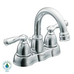 MOEN Banbury 4 in. Centerset 2-Handle High-Arc Bathroom Faucet in Chrome - WS84913 - The Home Depot