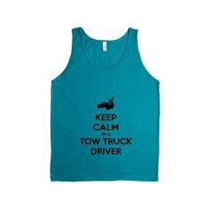 Keep Calm I'm A Tow Truck Driver Job Jobs Career Careers Profession Car Cars Trucks Automobiles Towing SGAL2 Men's Tank