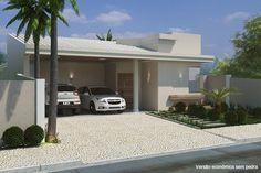 Planta de casa com telhado aparente - Projetos de Casas - Modelos de Casas