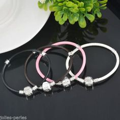 20 PC New White and Black Mix LOVE European Snake Chain Fit Charm Bracelet 14cm