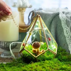 Handmade Hanging Teardrop Shape Gold Glass Geomtric image 1 Flower Planters, Flower Pots, Wedding Ring Box, Wedding Gifts, Gold Glass, Tea Box, Classic Elegance, Wedding Centerpieces, Shapes