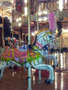 All aboard Edinburgh's Christmas Carousel. Perfect for the little ones.