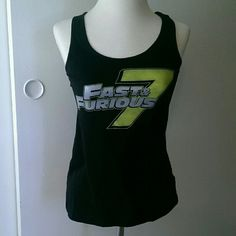 Fast and furious 7 stunt shirt Razor back tank top. Fast and furious 7, lime green. It's a shirt I got from the studios. district Tops Tank Tops