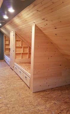 Bunk Rooms, Attic Bedrooms, Upstairs Bedroom, Bedroom Loft, Bedroom Rustic, Attic Bathroom, Upstairs Loft, Bedroom Small, Trendy Bedroom