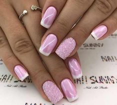 Gorgeous pink nail design