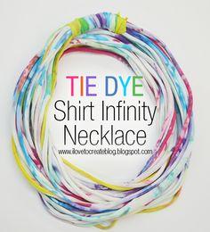 iLoveToCreate Blog: Tie Dye Shirt Infinity Necklace