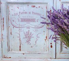 """Wandschablonen - Schablone - """"Lavande II"""" Vintage Style Typographie - ein Designerstück von PreciousWalls bei DaWanda"""