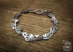 Amazing silver bird bracelet from the Hairy Growler, Cambridge