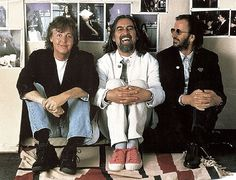 Like good fellas, 20 years from Beatles: Paul McCartney, George Harrison & Ringo Starr