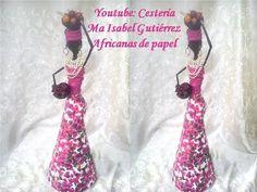 Como hacer una africana de papel. DIY - YouTube African Dolls, African American Dolls, African Art, Quilling Letters, Paper Mache Crafts, Paper Basket, Doll Tutorial, Paper Dolls, Diy And Crafts