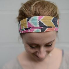 Studio Tie-Back Headband. Tribal. With a tie-back option. This headband can be worn skinny or can be open wide to keep hair back out of your face. Comfortable for any head shape. Buy now from Nora Gray. Indiana Handmade brick & mortar boutique in Berne, IN or purchase online here >>> http://www.nora-gray.com/collections/accessories/products/studio-tb-headband?variant=16370982213