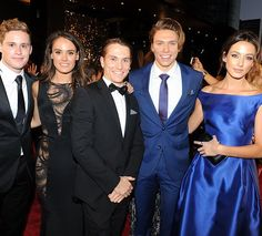 Scott Lee, Cassie Howarth, Jake Speer, Matthew Little and Isabella Giovinazzo at the 2015 Logies
