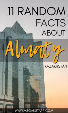 11 Random Facts abou 11 Random Facts about the incredible city of Almaty in Kazakhstan Travel Advice, Travel Guides, Travel Tips, Travel Articles, Travel Hacks, Backpacking Europe, Kazakhstan Travel, Top Travel Destinations, Interesting Information