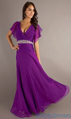 Long V-Neck Dress at SimplyDresses.com (the grey one, not the purple.)