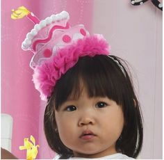 Mud Pie Pink Felt Birthday Cake Headband Hat-mud pie, felt, birthday, cake, headband, pink  via Karen Aurrecoechea