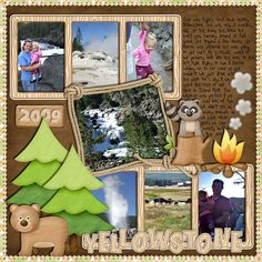 yellowstone scrapbooking layouts | Digital Scrapbooking by Michelle: Happy Campers by Lliella Designs