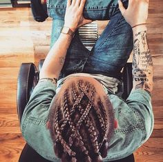 Move Over, Man Buns: Man Braids Are Taking Over If you liked this pin, click now for more details. Viking Braids, Viking Hair, Man Braids, Cornrows Men, Hair And Beard Styles, Curly Hair Styles, Natural Hair Styles, Mens Braids Hairstyles, African Hairstyles