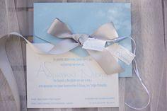 Elegant, light blue invitation with luxurious satin bow Little Boy And Girl, Little Boys, Boy Or Girl, Romantic Mood, Boy Baptism, Baptism Invitations, Dinosaurs, Light Blue, Place Card Holders