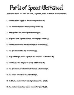 Worksheets Speech Worksheets parts of speech worksheets and vintage style on pinterest