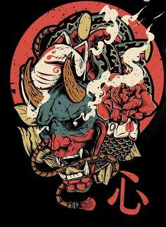 Japanese art – - New Site Japanese Artwork, Japanese Tattoo Art, Dope Kunst, Japon Illustration, Japanese Illustration, Character Art, Character Design, Samurai Artwork, Bild Tattoos