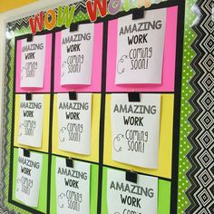 Wow wall idea..will adjust for more students